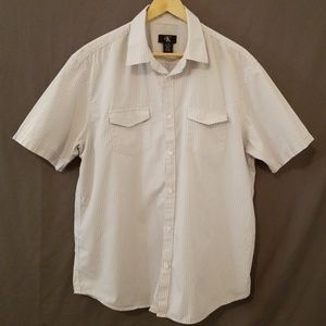 Calvin Klein Short Sleeve Casual Button Up Shirt L